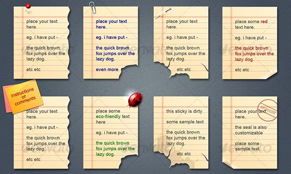 sticky notes - Web Elements