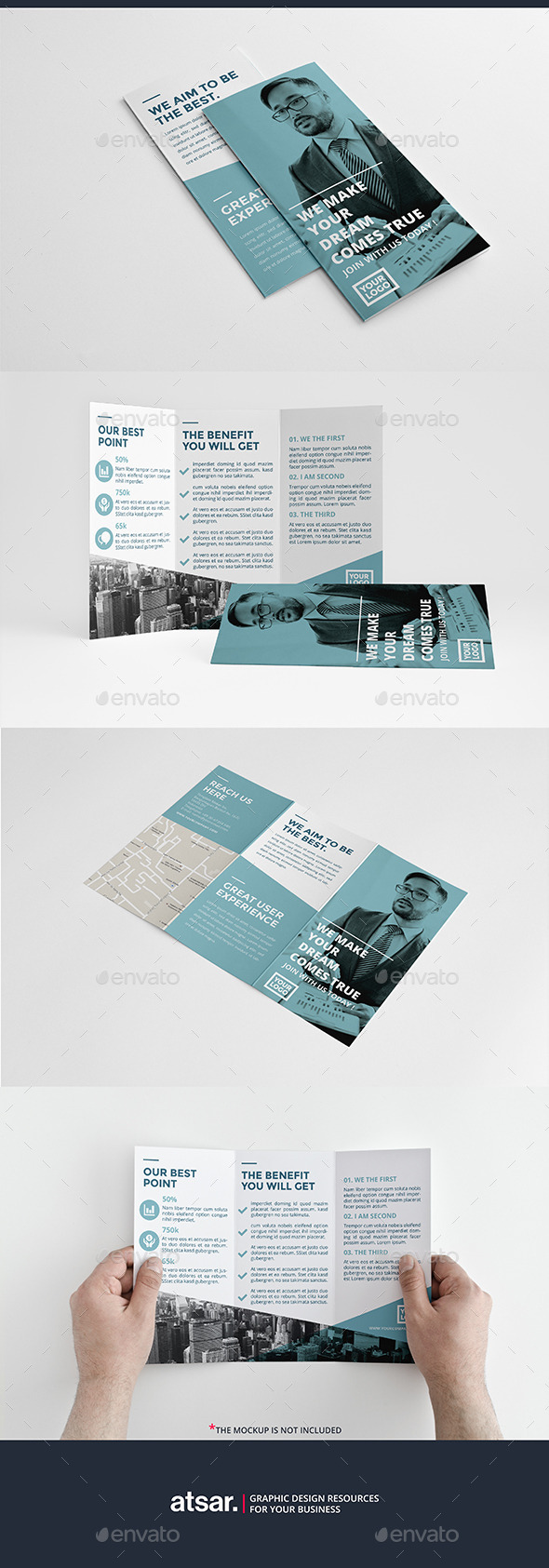 Clean Blue Trifold - Corporate Brochures