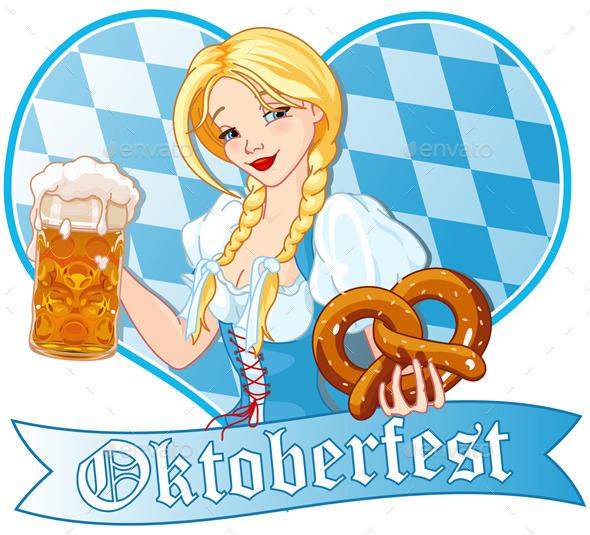 Oktoberfest Girl - People Characters