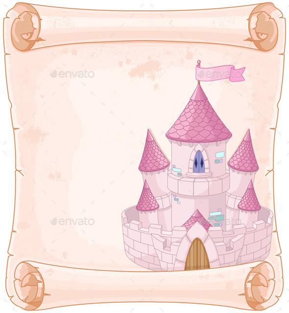Fairy Tale Theme Parchment - Buildings Objects
