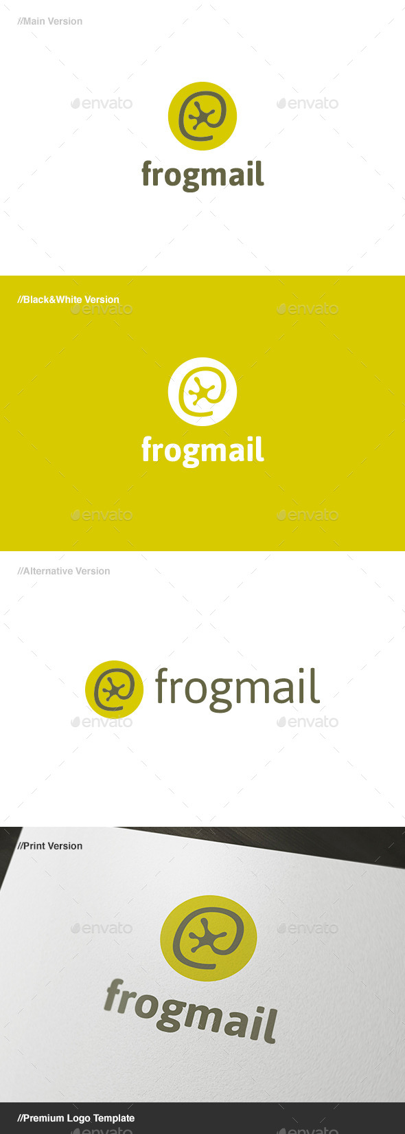 Frog Mail - Animals Logo Templates