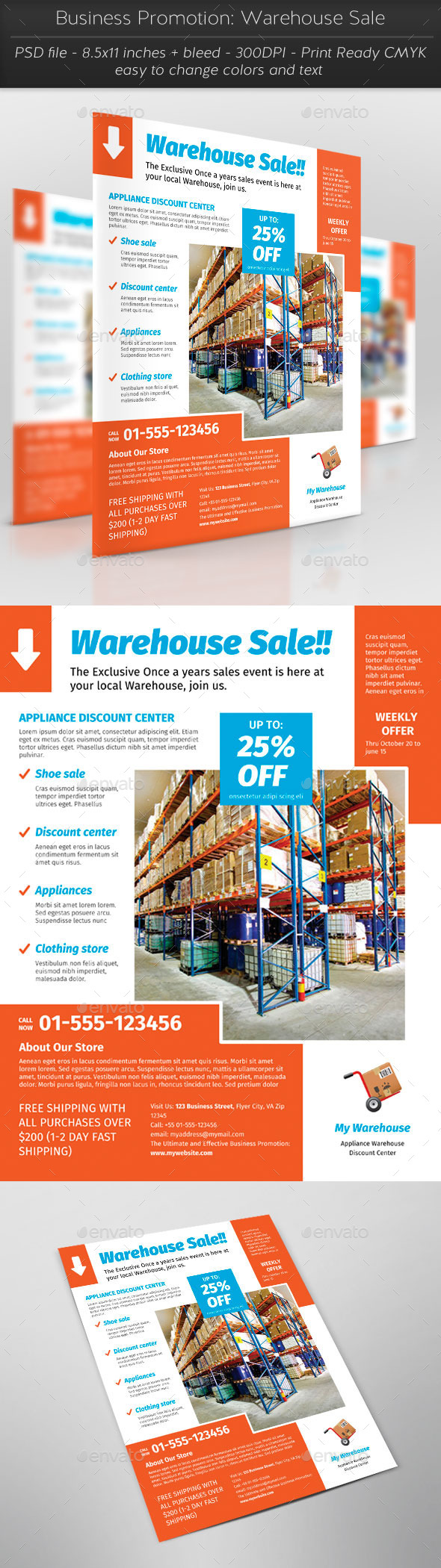 Business Promotion Warehouse Sale