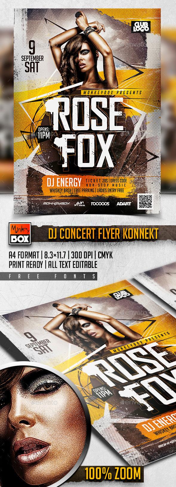 DJ Concert Flyer Konnekt