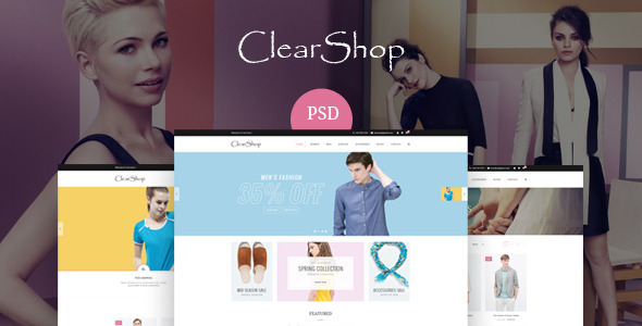Clear Shop – PSD Templates