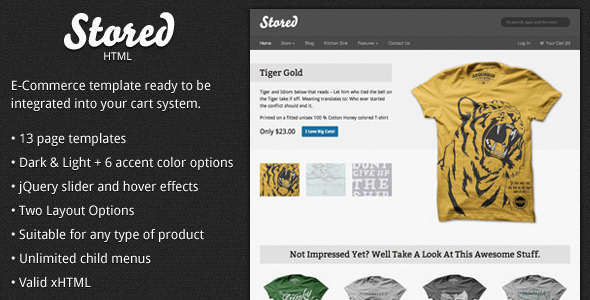 Stored  - HTML Ecommerce Template - Retail Site Templates