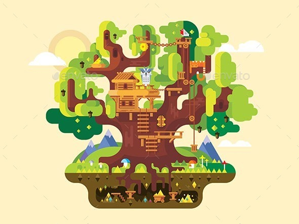 Tree House - Landscapes Nature