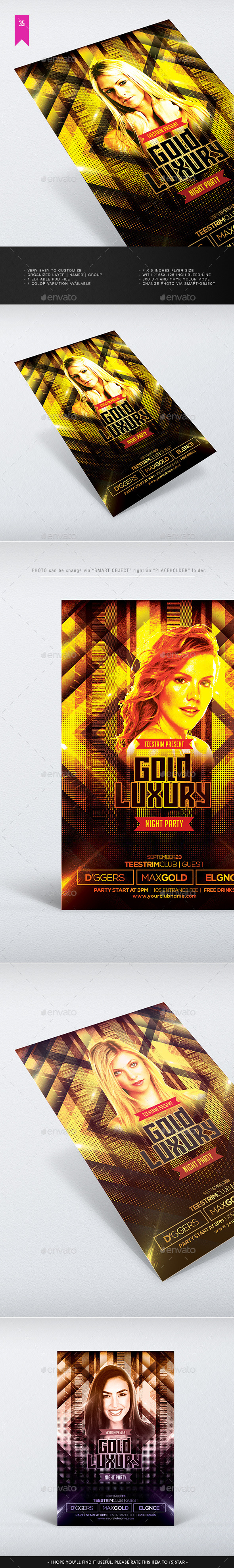 Gold Luxury Flyer Template