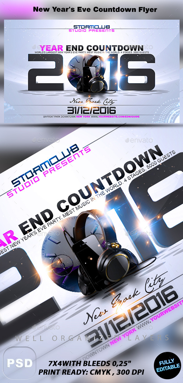 New Year's Eve Countdown Flyer - Events Flyers