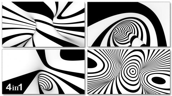 Tunnel Black White Disco 4-Pack