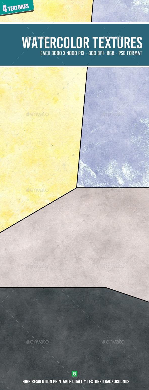 Watercolor Texture Pack 63 - Art Textures