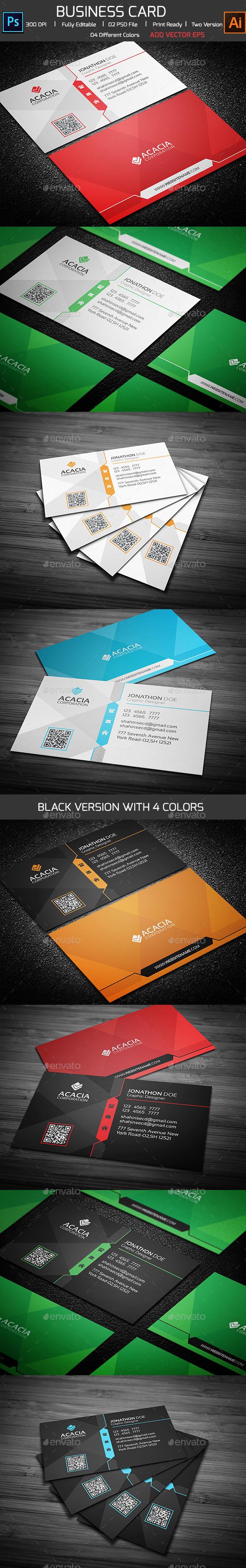 Corporate Business Card V-01 - Corporate Business Cards