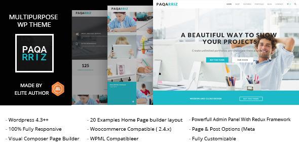 Paqarriz – Multipurpose WordPress Theme