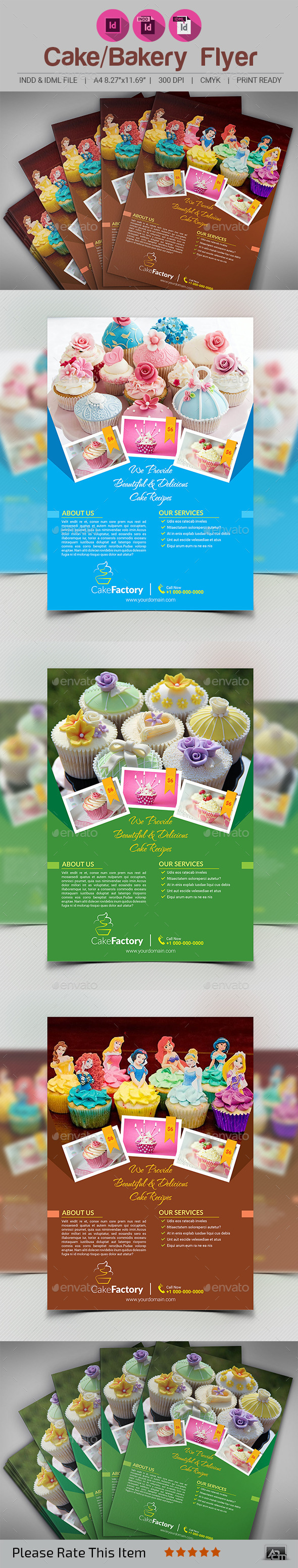 Cake Bakery Flyer or Magazine Ad