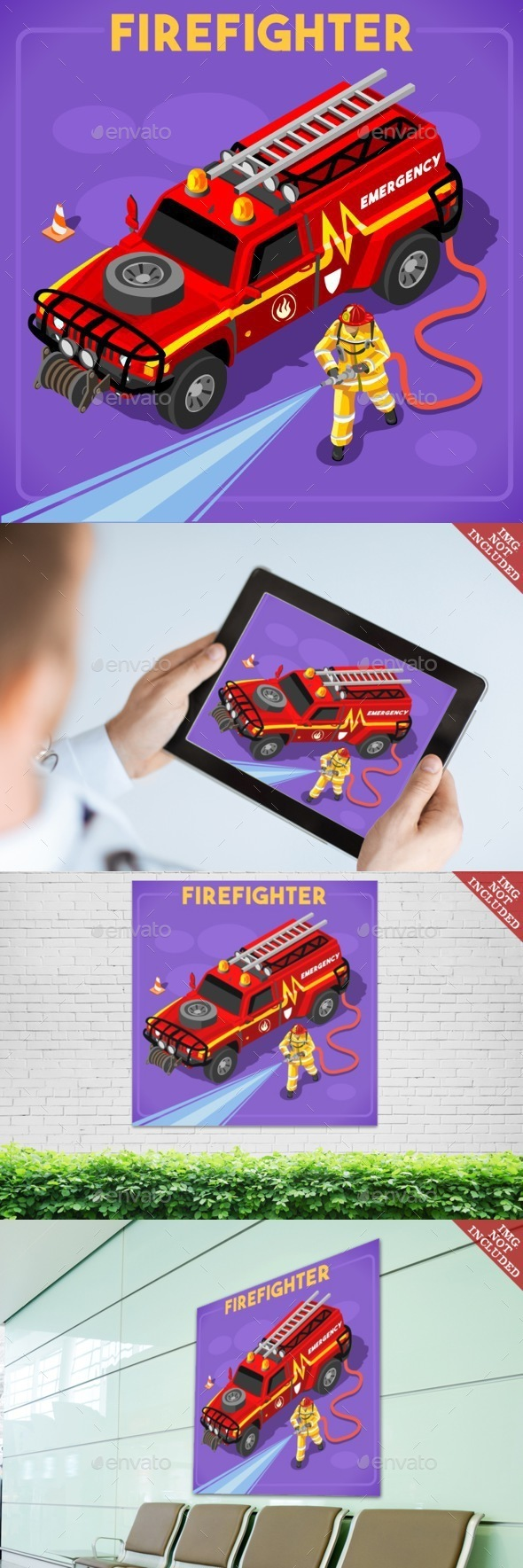 Firefighters 02 People Isometric - People Characters