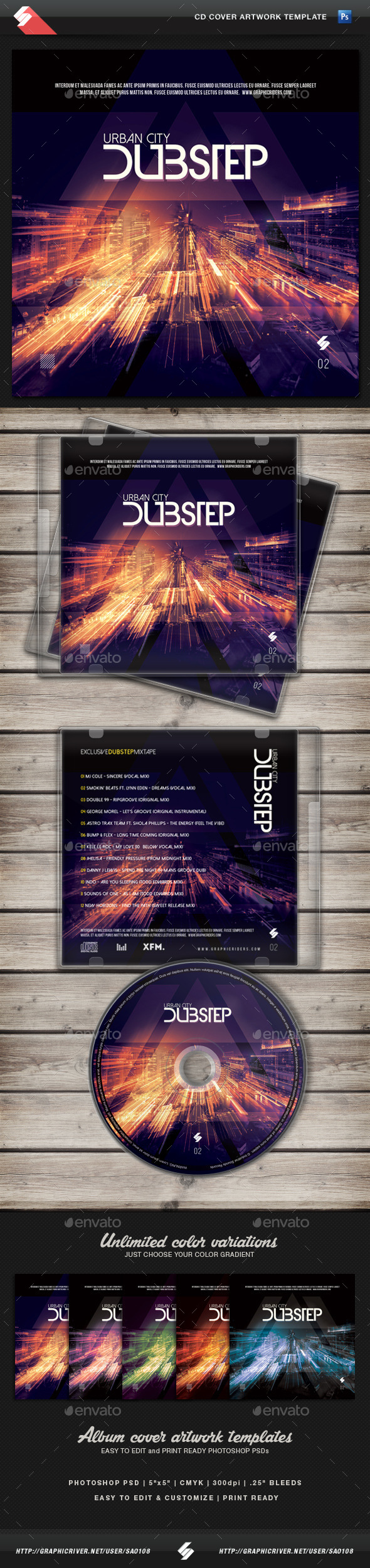 Urban City Dubstep vol.2 CD Cover Template