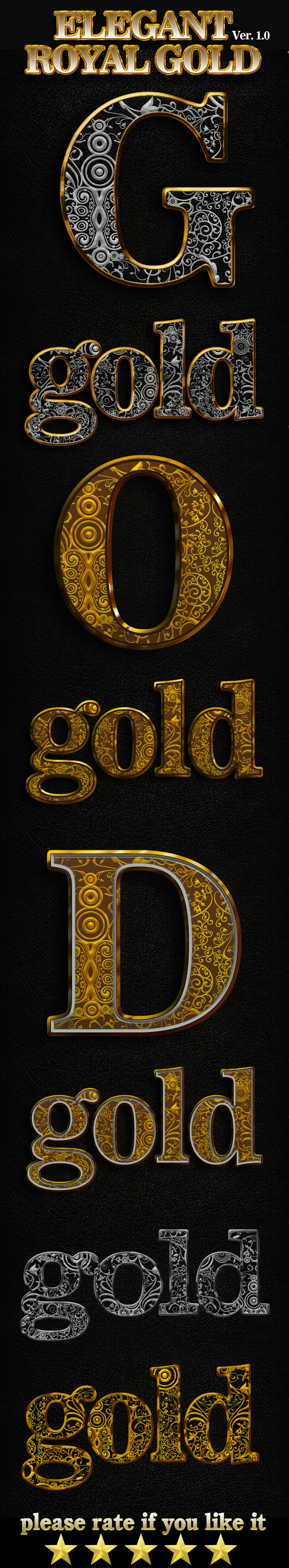 King Royal Gold Photoshop Text Style - Text Effects Styles