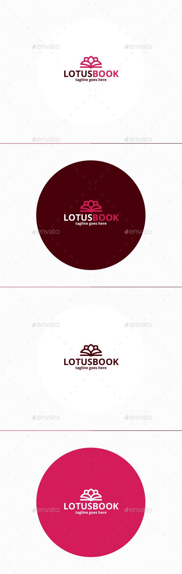 Lotus Book Logo - Nature Logo Templates