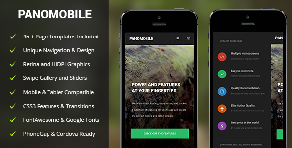 PanoMobile | Mobile & Tablet Responsive Template