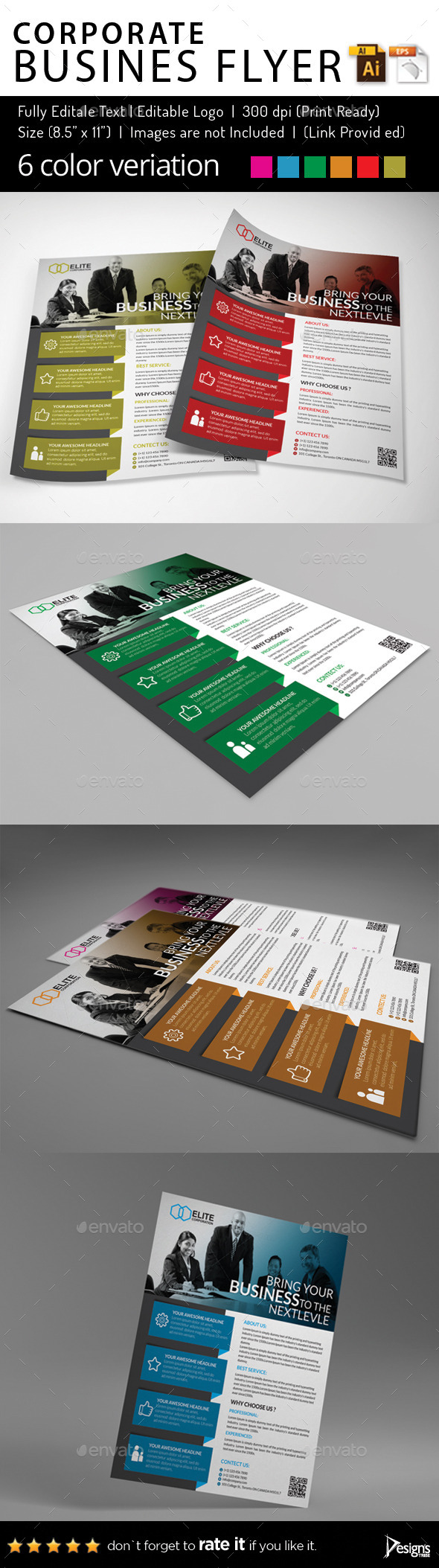 Multipurpose Business Flyer 62 - Flyers Print Templates