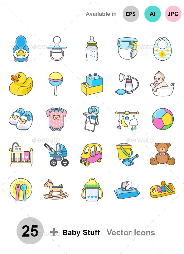 Baby Stuff icons - Objects Icons