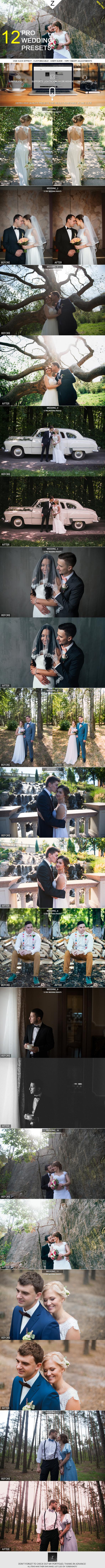 12 Pro Wedding Presets - Wedding Lightroom Presets