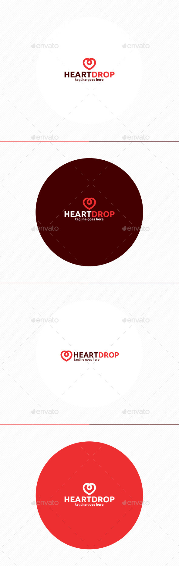 Heart Drop Logo - Objects Logo Templates