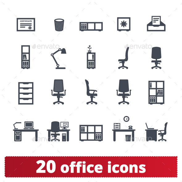 Office Furniture Icons