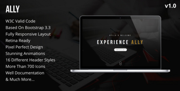 Ally – One-Page Multipurpose HTML5 Template