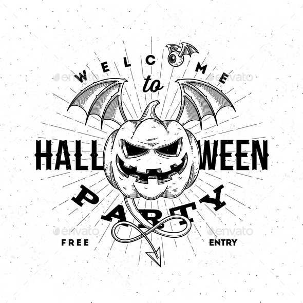 Halloween Vector Illustration - Halloween Seasons/Holidays