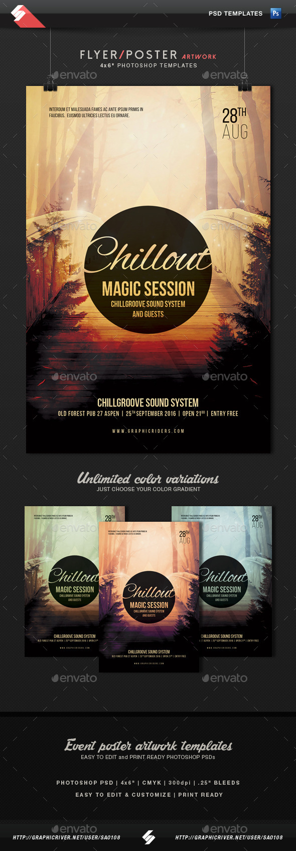 Chillout Magic Session - Event Flyer Template - Clubs & Parties Events