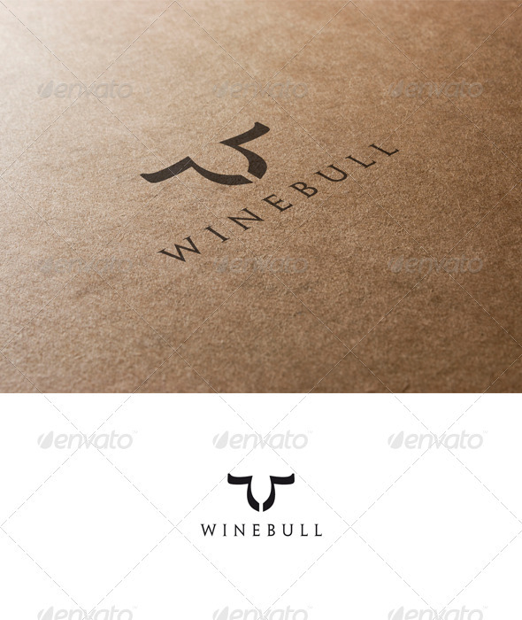 Bull and Wine Logo - Animals Logo Templates