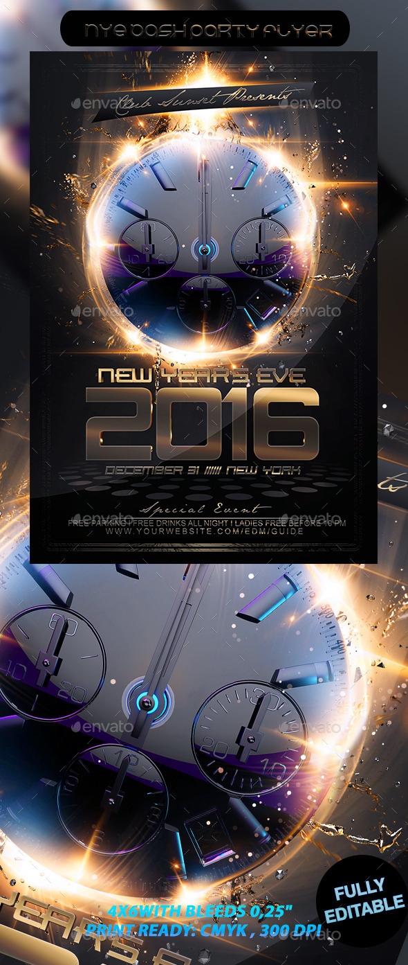 NYE Bash Party Flyer - Events Flyers
