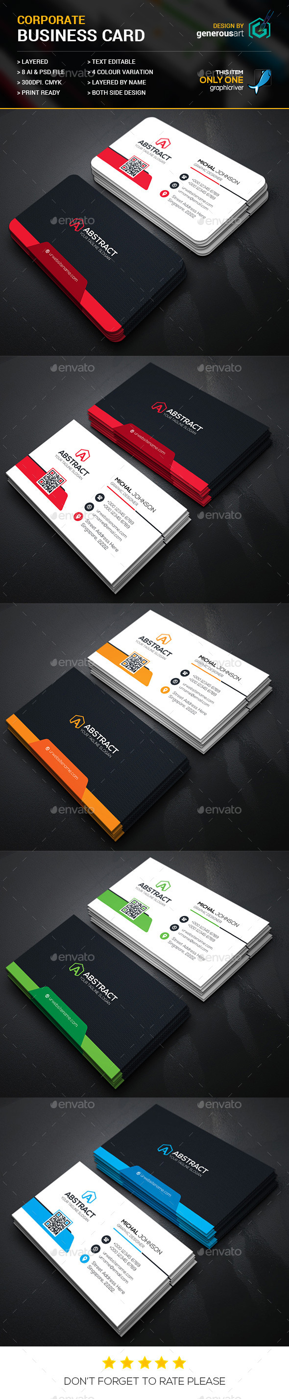 Mega Star Business Card - Corporate Business Cards