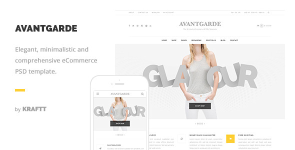 Avantgarde – Modern and Elegant eCommerce PSD Template