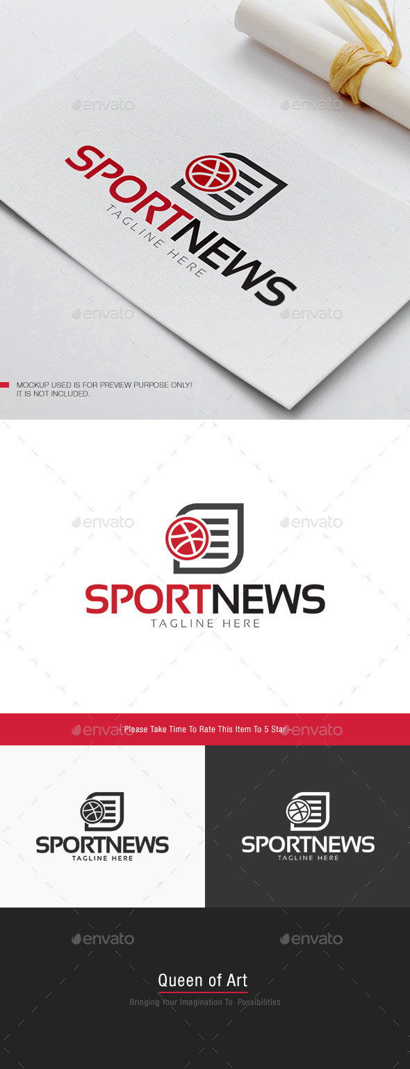 Sport News Logo - Objects Logo Templates
