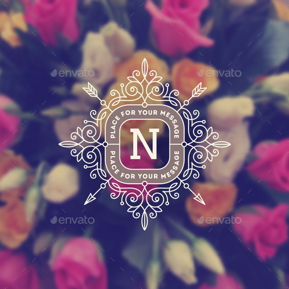 Vintage Monogram Logo Template  - Decorative Vectors