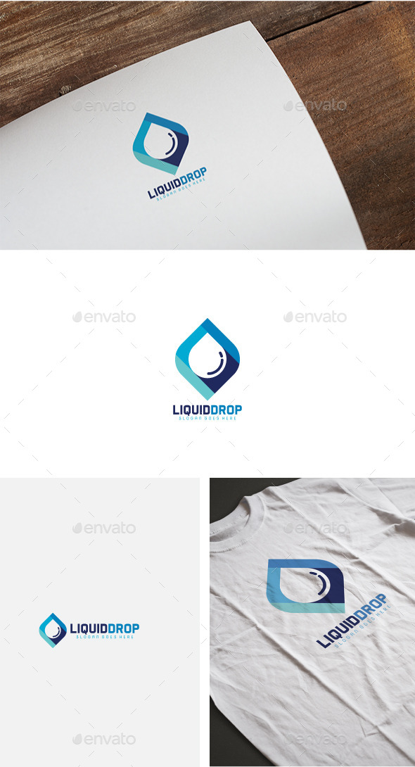 Liquid Drop Logo - Abstract Logo Templates