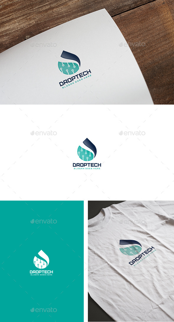 Technologie Drop Logo - Abstract Logo Templates