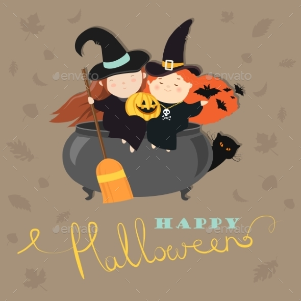Witches With Pot - Halloween Seasons/Holidays