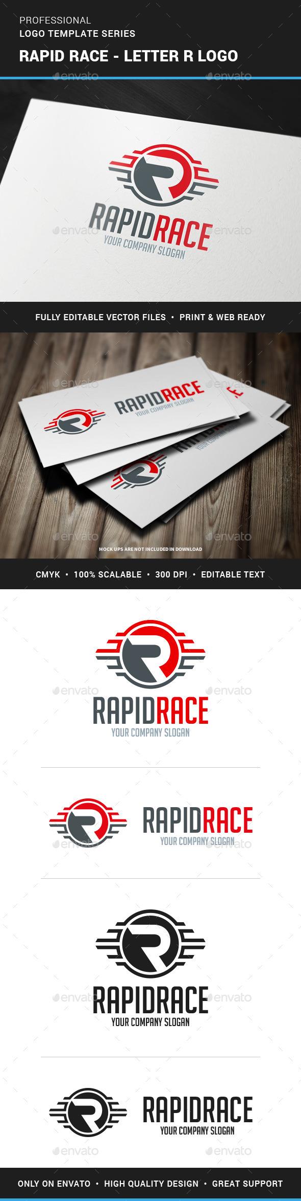 Rapid Race Letter R Logo