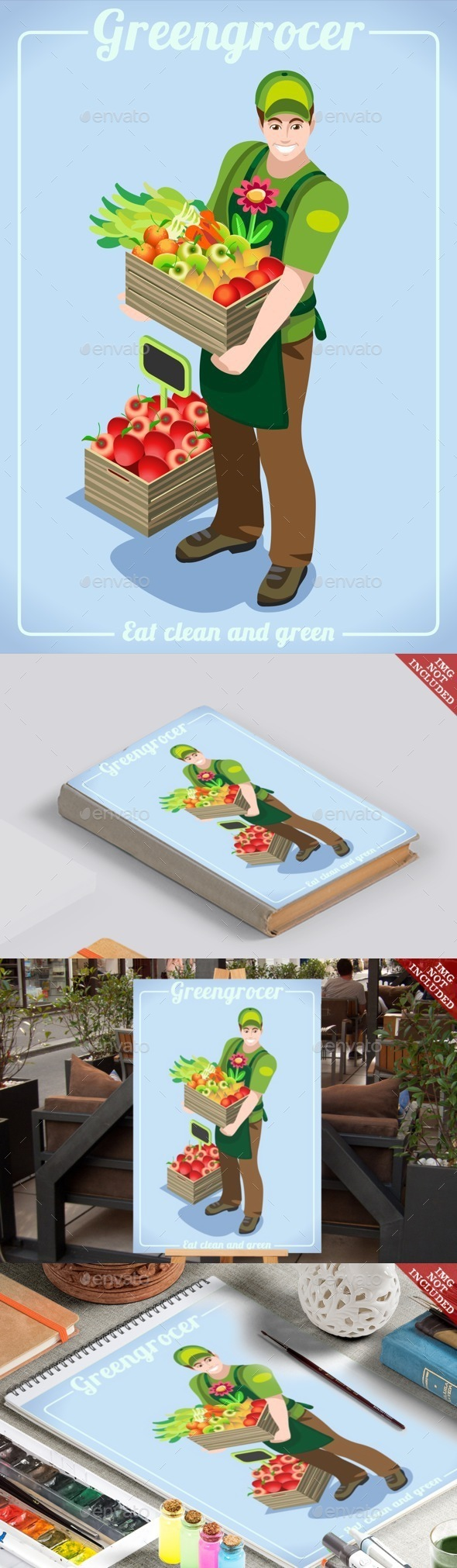 Greengrocer Services People Isometric - People Characters