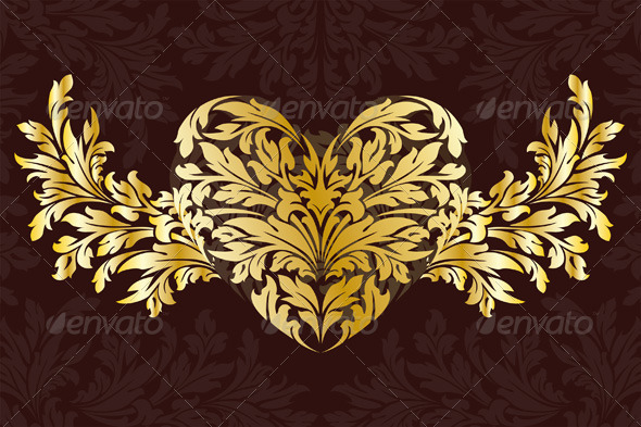 Stylized Valentines Day Heart - Valentines Seasons/Holidays