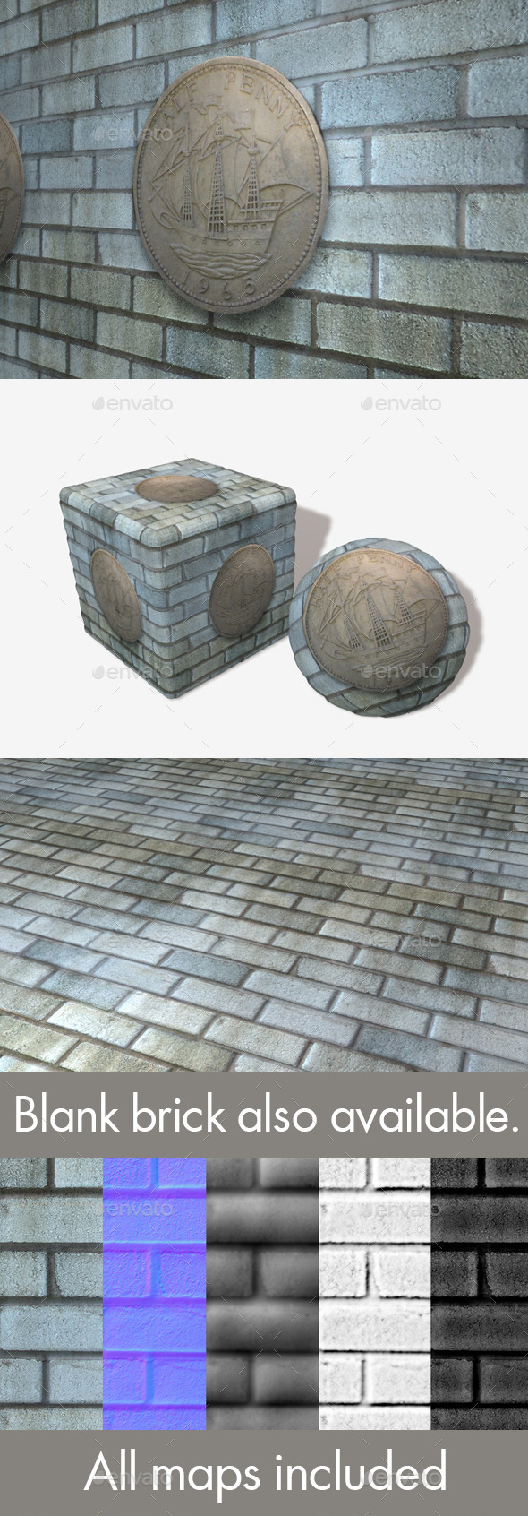 Blue Grey Stone Penny Pattern Seamless Texture