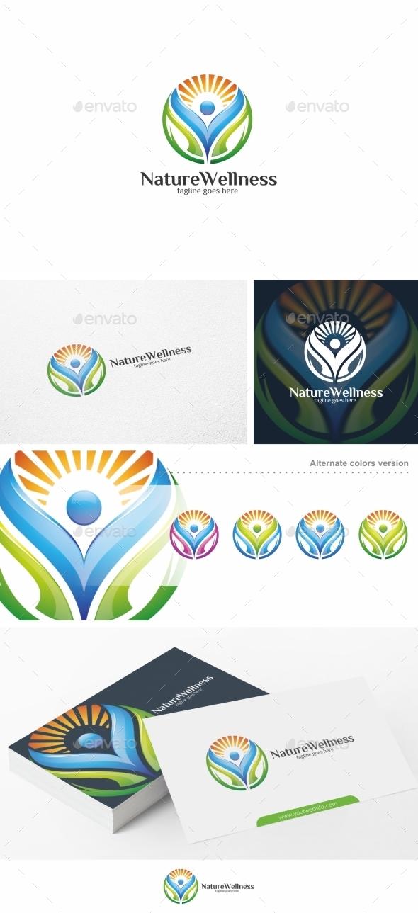 Nature Wellness - Logo Template - Nature Logo Templates