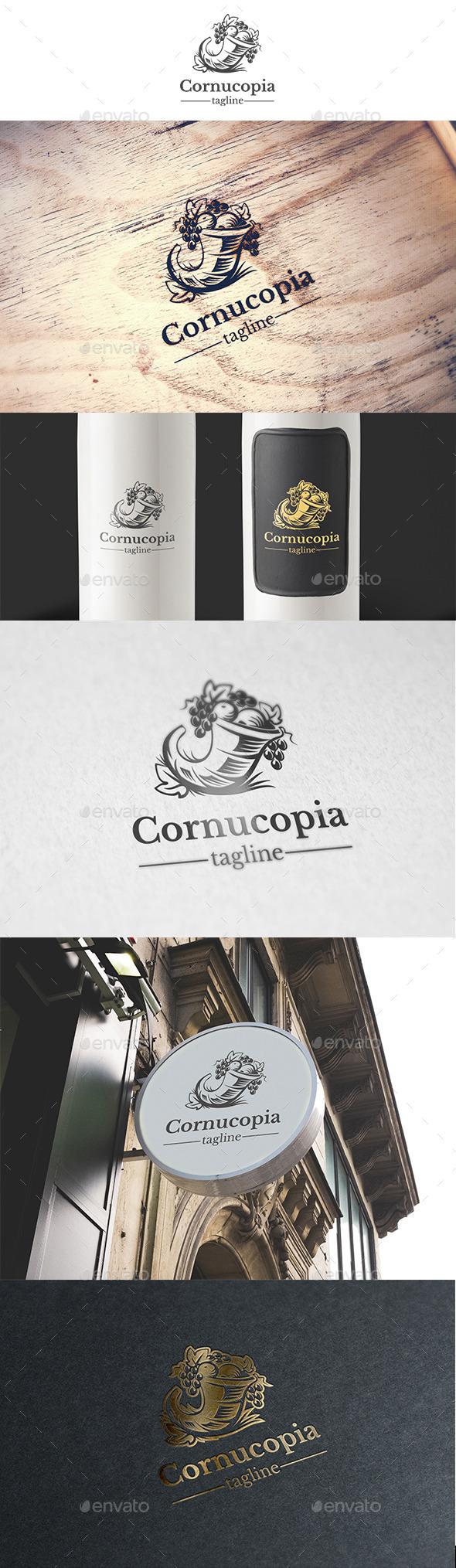 Cornucopia Logo Template - Food Logo Templates