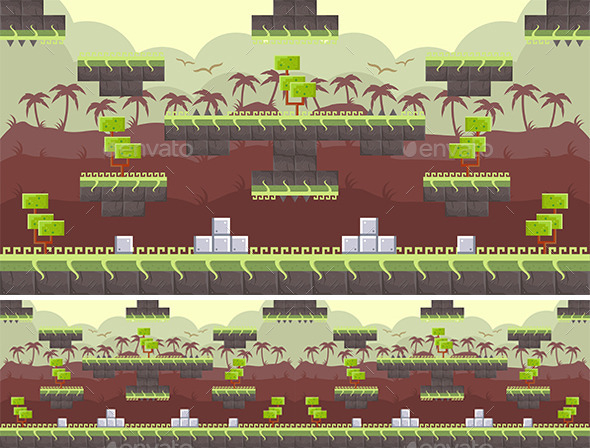 Platform Game Background - Backgrounds Game Assets