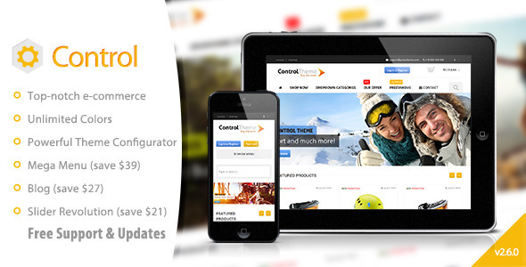 Control – PrestaShop Theme Responsive + Included Blog