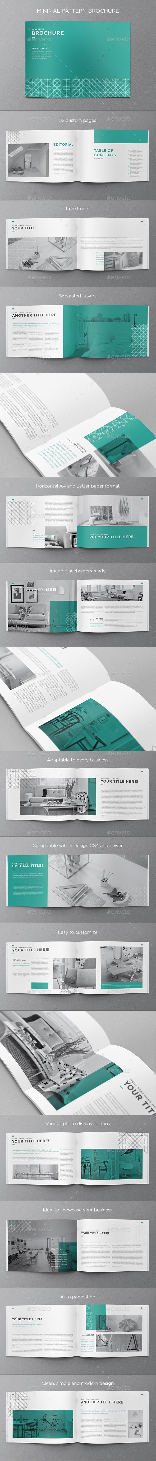 Minimal Pattern Brochure - Brochures Print Templates
