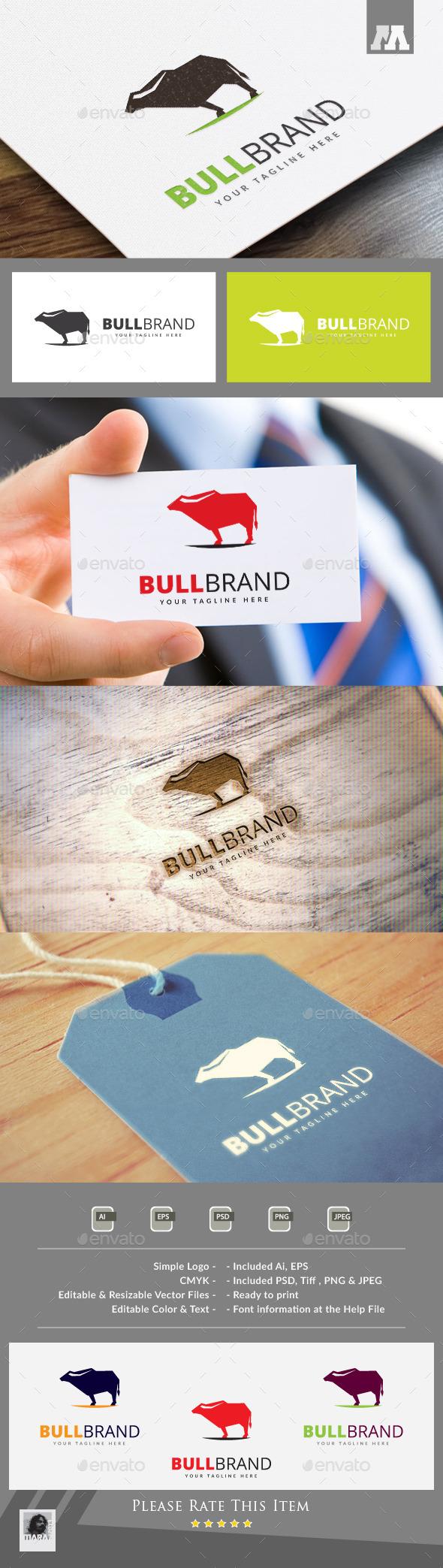 Bull Brand Logo Template - Animals Logo Templates