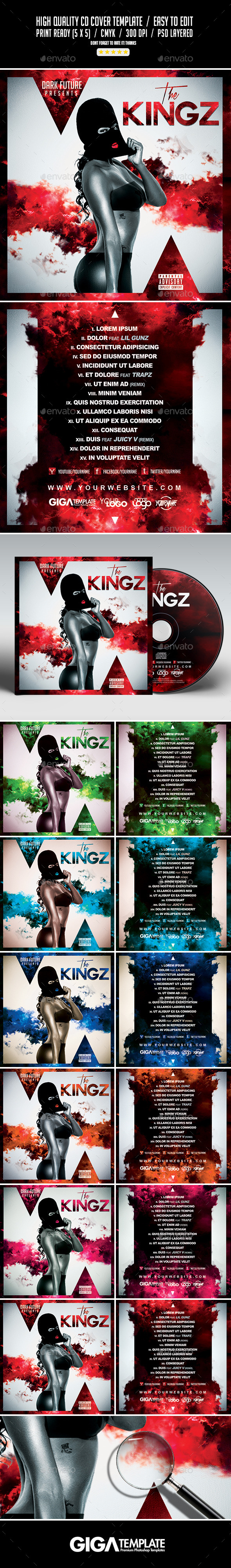The Kingz Mixtape Tape Album CD Cover Template